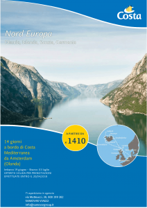 Costa Mediterranea 14gg in Nord Europa 19 06 18 Locandina A4